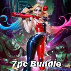 JAN DC COMICS CARD STOCK VARIANT BUNDLE