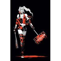 HARLEY QUINN BLACK WHITE RED TP