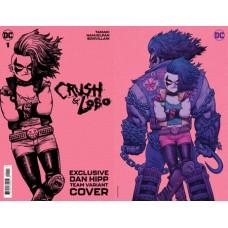 CRUSH & LOBO #1 CVR DAN HIPP CARD STOCK TEAM VAR
