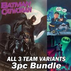 BATMAN CATWOMAN #1 GABRIELLE DELL'OTTO + BRUCE TIMM + JEN BARTEL ALL THREE TEAM VARIANT BUNDLE