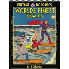 VINTAGE DC COMICS 2018 12 MONTH WALL CALENDAR