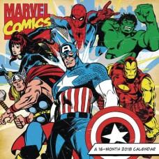 MARVEL COMICS RETRO 16 MONTH 2018 WALL CALENDAR