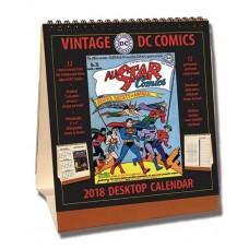 VINTAGE DC COMICS 2018 DESKTOP CALENDAR