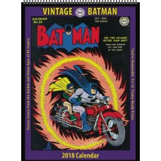 VINTAGE DC COMICS BATMAN 2018 12 MONTH WALL CALENDAR