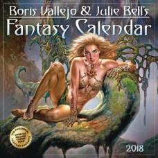 BORIS VALLEJO JULIE BELL FANTASY 2018 WALL CAL