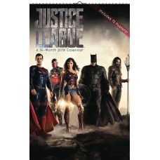 JUSTICE LEAGUE MOVIE OVERSIZED 2018 WALL CAL
