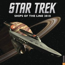 STAR TREK SHIPS OF LINE 2018 WALL CALENDAR