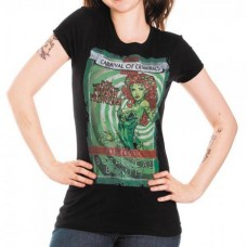 DC COMICS POISON IVY CARNIVAL OF CRIMINALS BLACK T-S MED