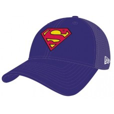 SUPERMAN SYMBOL WASHED TRUCKER SNAP BACK CAP