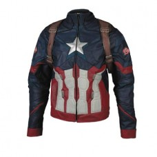 CIVIL WAR CAPTAIN AMERICA INSPIRED JACKET LG (Net)