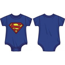 DC SUPERMAN LOGO INFANT BLUE SNAP BODYSUIT 6M (Net)