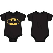 DC BATMAN LOGO INFANT BLACK SNAP BODYSUIT 6M (Net)