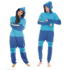 MEGAMAN HOODED UNION-SUIT LOUNGER MED