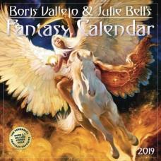 BORIS VALLEJO JULIE BELL FANTASY 2019 WALL CAL