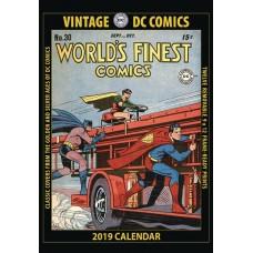 VINTAGE DC COMICS 2019 WALL CALENDAR