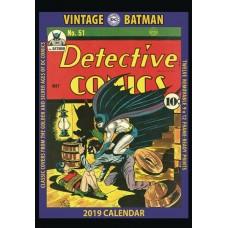 VINTAGE DC COMICS BATMAN 2019 WALL CALENDAR
