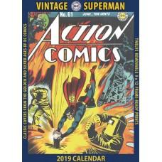 VINTAGE DC COMICS SUPERMAN 2019 WALL CALENDAR