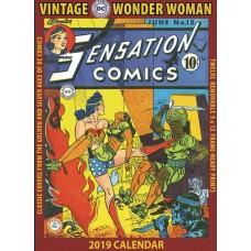 VINTAGE DC COMICS WONDER WOMAN 2019 WALL CALENDAR