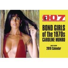 BOND GIRLS OF 70S CAROLINE MUNRO 2019 WALL CALENDAR