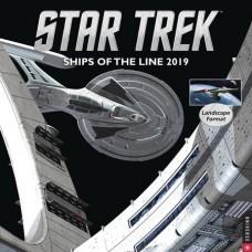STAR TREK SHIPS OF LINE 2019 WALL CALENDAR