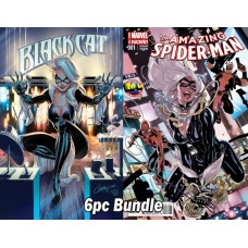 BLACK CAT #1 REG & VARIANT + M&M ASM #1 VARIANT 6PC BUNDLE