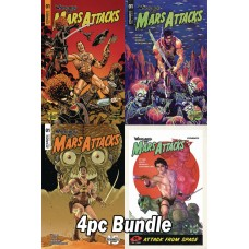 WARLORD OF MARS ATTACKS #1 CVR A B C D 4PC BUNDLE