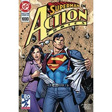DF ACTION COMICS #1000 90S VARIANT SILVER SGN NOWLAN