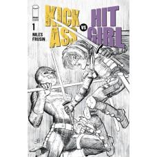KICK-ASS VS HIT-GIRL #1 (OF 5) CVR B B&W ROMITA JR (MR)