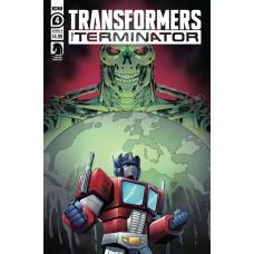 TRANSFORMERS VS TERMINATOR #4 (OF 4) CVR B MANAFORT