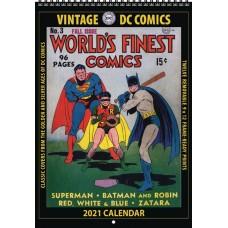 VINTAGE DC COMICS 2021 WALL CALENDAR (C: 0-1-1)