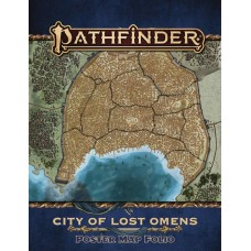 PATHFINDER CITY OF LOST OMENS POSTER MAP FOLIO (P2)
