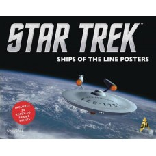 STAR TREK SHIPS OF LINE POSTER BOOK SALE ED