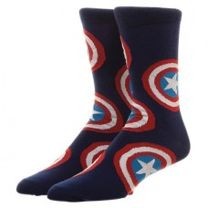 MARVEL CAPTAIN AMERICA ALL OVER PRINT CREW SOCKS