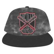 WALKING DEAD LUCILLE DYED DENIM SNAP BACK HAT