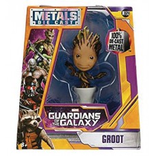 METALS MARVEL GOTG POTTED GROOT 4IN DIE-CAST FIG (Net)