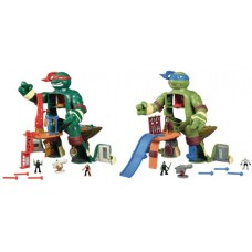 TMNT MICROFIGURE 9.5IN PLAYSET CS (Net)