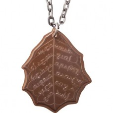 LOTR ELVISH COPPER LEAF OF FALL COIN NECKLACE