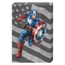 CAPTAIN AMERICA ACTION GALVANIZED STEEL WALL ART