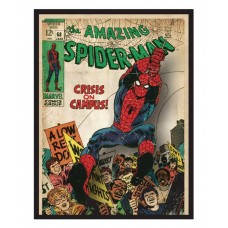 SPIDER-MAN COMIC COVER PRINTED GLASS WALL ART