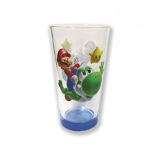 SUPER MARIO GALAXY MARIO AND YOSHI PINT GLASS