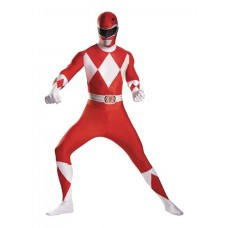 MMPR RED RANGER SUPER-SUIT COSTUME TEEN