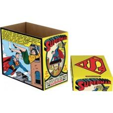 DC COMICS SUPERMAN COMIC PANEL 5 PK SHORT COMIC STORAGE BOX
