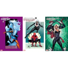 AMAZING SPIDER-MAN #8 #9 #10 BLACK CAT VARIANT 3PC BUNDLE