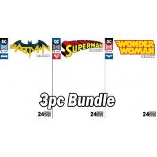 DC COMICS COMIC DAY BATMAN SUPERMAN WW BLANK COMICS 3PC BUNDLE SET