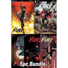 MISS FURY #1 CVR A B C D E 5PC BUNDLE SET