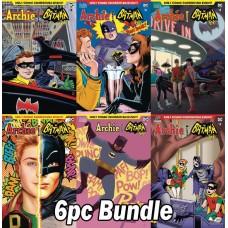 ARCHIE MEETS BATMAN 66 #4 CVR A B C D E F 6PC BUNDLE SET