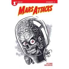 MARS ATTACKS #1 HAESER REMARKED ED