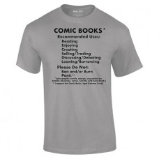 COMIC BOOKS RECOMMENDED USES BLACK T/S MED