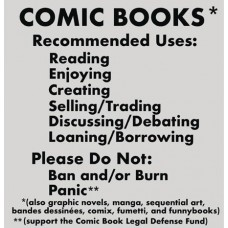 COMIC BOOKS RECOMMENDED USES GRAY T/S LG