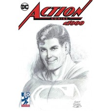 DF ACTION COMICS #1000 SNYDER B&W WRAP SGN EXC